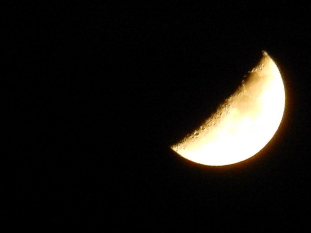 Noche sin sueño de luna creciente
